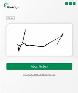 Am Handy Kunden unterschreiben lassen