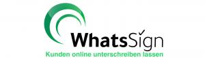 Logo WhatsSign - Kunden online am Handy unterschreiben lassen