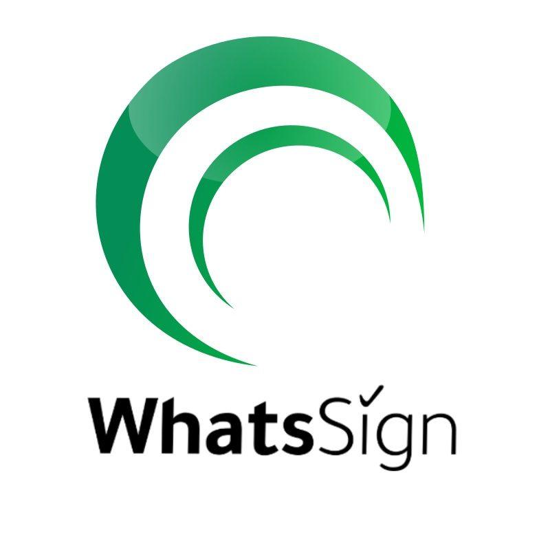 WhatsSign Logo - Kunden online unterschreiben lassen