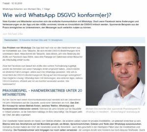 WhatsApp DSGVO konform(er) mit WhatsSign