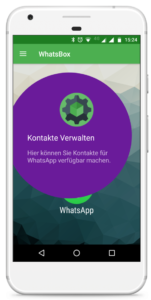 WhatsBox-Kontakte in Whatsapp verwalten