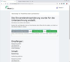 Verträge online unterschreiben mit WhatsSign