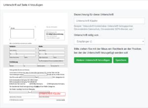 Unterschriftenfeld in WhatsSign hinzufügen