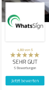 Top-Bewertungen für WhatsSign bei ProvenExperts